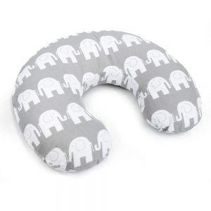 Feeding pillow elephants grey