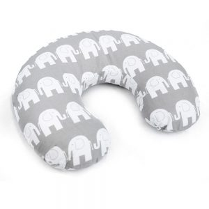 Feeding pillow elephants grey