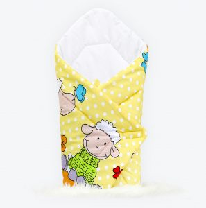 Swaddle wrap sheep yellow